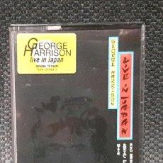 Casetes antiguos: GEORGE HARRISON - BEATLES -LIVE IN JAPAN- DOBLE CASSETTE - ALEMANIA - RARA- INMACULADO- ERIC CLAPTON. Lote 116114595