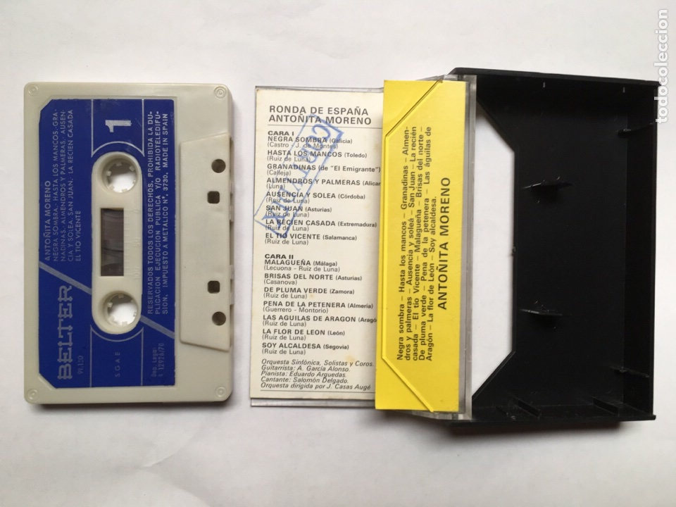 Casetes antiguos: Cinta cassette Antoñita Moreno - Ronda de España - Foto 2 - 116176587