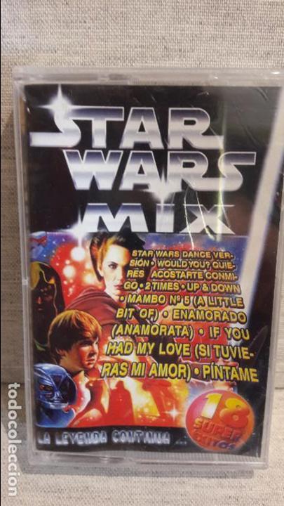 STAR WARS MIX / LA LEYENDA CONTINUA / 18 SUPER ÉXITOS / MC - KNIFE - 1999 / PRECINTADO. DIFÍCIL. (Música - Casetes)
