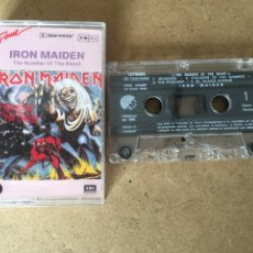 Casetes antiguos: 184L339 CINTA DE CASSETTE IRON MAIDEN, THE NUMBER OF THE BEAST. ED ITALIANA. Lote 117326484