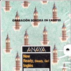 Casetes antiguos: INGLES 6º EGB - GRABACION SONORA EN CASETES - ANAYA 1988 - VER FOTOS. Lote 118334531