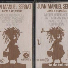 Casetes antiguos: JOAN MANUEL SERRAT. CANTA A LOS POETAS. 2 CASSETTES. CASE-0341. Lote 206925246