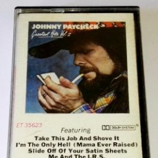 Casetes antiguos: CASETE - JOHNNY PAYCHECK; GREATEST HITS VOL. II / CBS 1978. Lote 118923711