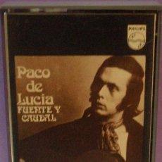 Casetes antiguos: PACO DE LUCÍA - FUENTE Y CAUDAL - CASSETTE DE 1973. Lote 118997051