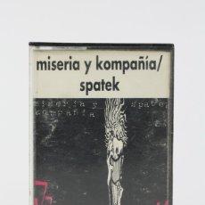 Casetes antiguos: CINTA DE CASETE / CASSETTE - MISERIA Y KOMPAÑIA / SPATEK - ILLA RECORDS - PUNK - AÑO 1992. Lote 119105579