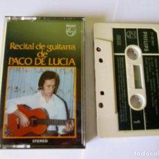 Casetes antiguos: PACO DE LUCIA - RECITAL DE GUITARRA - CASSETTE 10 TEMAS - PHILIPS 1972 SPAIN 71 23 060 . Lote 119139627