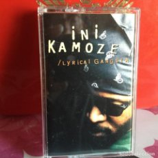 Casetes antiguos: INI KAMOZE - LYRICA GANGSTA (HIP HOP) / ALBUM CASSETTE 1995 EAST WEST RECORDS. VG+-NM. Lote 119140111