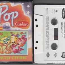 Casetes antiguos: POP CUÉTARA CASSETTE ACID CITRIC 1989 TECHNO CEEJAY MR. LEE THE PROJECT CLUB GINO LATINO. Lote 119141343