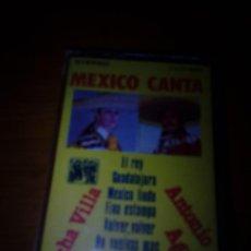 Casetes antiguos: MEXICO CANTA. LUCHA VILLA. ANTONIO AGUILAR. C17F. Lote 120236179