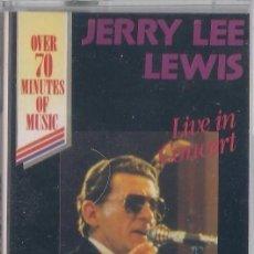 Casetes antiguos: JERRY LEE LEWIS - LIVE IN CONCERT - CASETE - TRING INTERNATIONAL - PRECINTADA DOBLE DURACIÓN. Lote 120369891