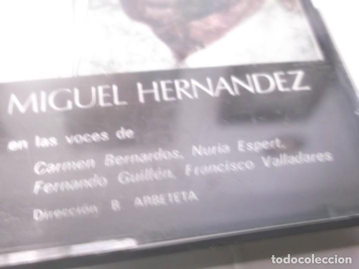 Casetes antiguos: MIGUEL HERNANDEZ EN LAS VOCES DE CARMEN BERNARDOS, NURIA ESPERT, FERNANDO GUILLEN, F.VALLADARES - Foto 2 - 120765935