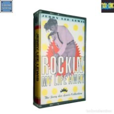 Casetes antiguos: ROCKIN' MY LIFE AWAY (79 - 80) JERRY LEE LEWIS / CINTA CASETE CASSETTE / WARNER 1991 (DOLBY SYSTEM). Lote 121337979