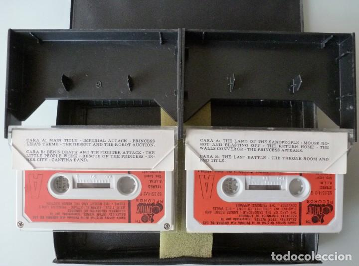 Casetes antiguos: LA GUERRA DE LAS GALAXIAS (DOBLE CASSETTE CON CAJA 20TH CENTURY RECORDS 1977 ESPAÑA) STAR WARS - Foto 4 - 124403111