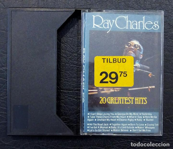 CINTA CASETE RAY CHARLES - THE GENIUS - 20 GREATEST HITS - MADE IN HOLLAND