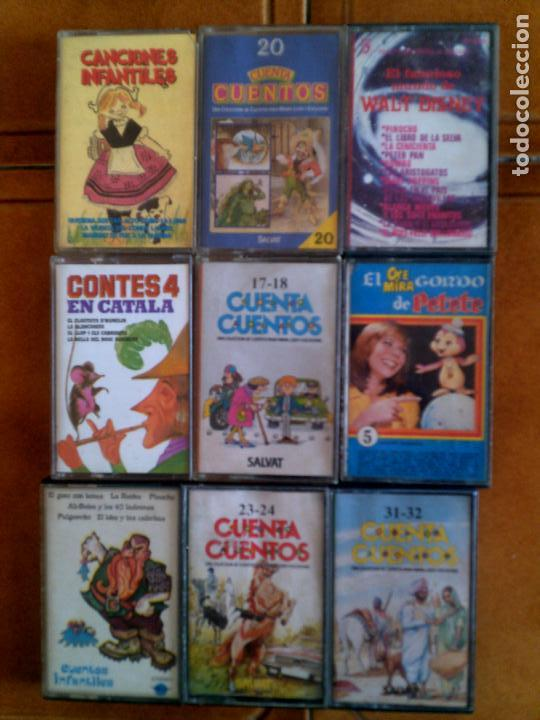 LOTE DE CASETES INFANTILES DE CUENTOS (Música - Casetes)