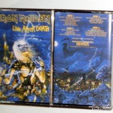 Casetes antiguos: DOBLE 2 CASETE CASSETTE - IRON MAIDEN - LIVE AFTER DEATH - ORIGINAL EMI RECORDS 1985 1ªEDICION - . Lote 125343627