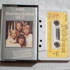 Casetes antiguos: CINTA CASSETTE - ABBA - GRANDES EXITOS VOLUMEN 2. Lote 127649359