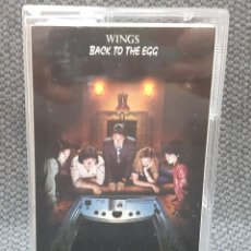 Casetes antiguos: PAUL MCCARTNEY - WINGS - BEATLES - BACK TO THE EGG - CASSETTE - REINO UNIDO - EXCELENTE. Lote 128012119