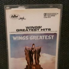 Casetes antiguos: PAUL MCCARTNEY - WINGS - BEATLES - WINGS GREATEST - CASSETTE - MEXICO - EXCELENTE. Lote 128260567