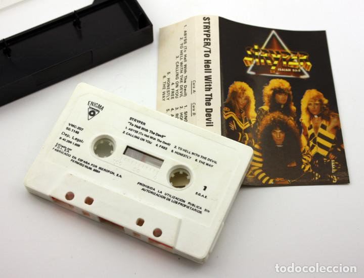Casetes antiguos: STRYPER - TO HELL WITH THE DEVIL - ENIGMA - 1986 - MADE IN SPAIN - CASETE CASSETTE - Foto 2 - 128742063