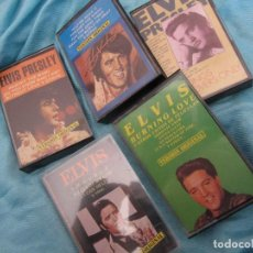 Casetes antiguos: LOTE 5 CASETTES ELVIS PRESLEY. Lote 129149923