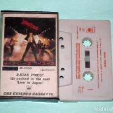 Casetes antiguos: CINTA CASSETTE - JUDAS PRIEST - UNLEASHED IN THE EAST - LIVE IN JAPAN. Lote 130708119
