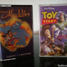 Casetes antiguos: CASSETTES ALADDIN Y TOY STORY. Lote 131143201