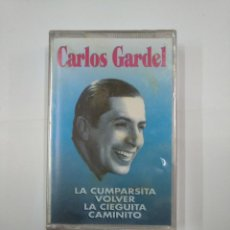 Casetes antiguos: CARLOS GARDEL. LA CUMPARSITA. VOLVER. LA CIEGUITA. CAMINITO. NUEVO. CASETE. TDKV20. Lote 131178668