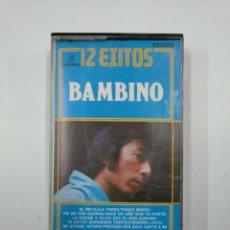 Casetes antiguos: 12 EXITOS. BAMBINO. CASETE. TDKV20. Lote 131178728