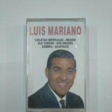 Casetes antiguos: LUIS MARIANO. VIOLETAS IMPERIALES. MEXICO. OLE TORERO. DOS CRUCES... CASETE. NUEVO. TDKV20. Lote 131180100