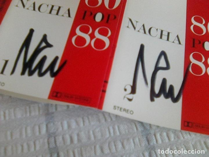 Casetes antiguos: ¡ Firmada´s por nacho garcía Vega! - Nacha Pop - 80 - 88 (Polygram, 1988) -2 cintas - - Foto 2 - 131616278