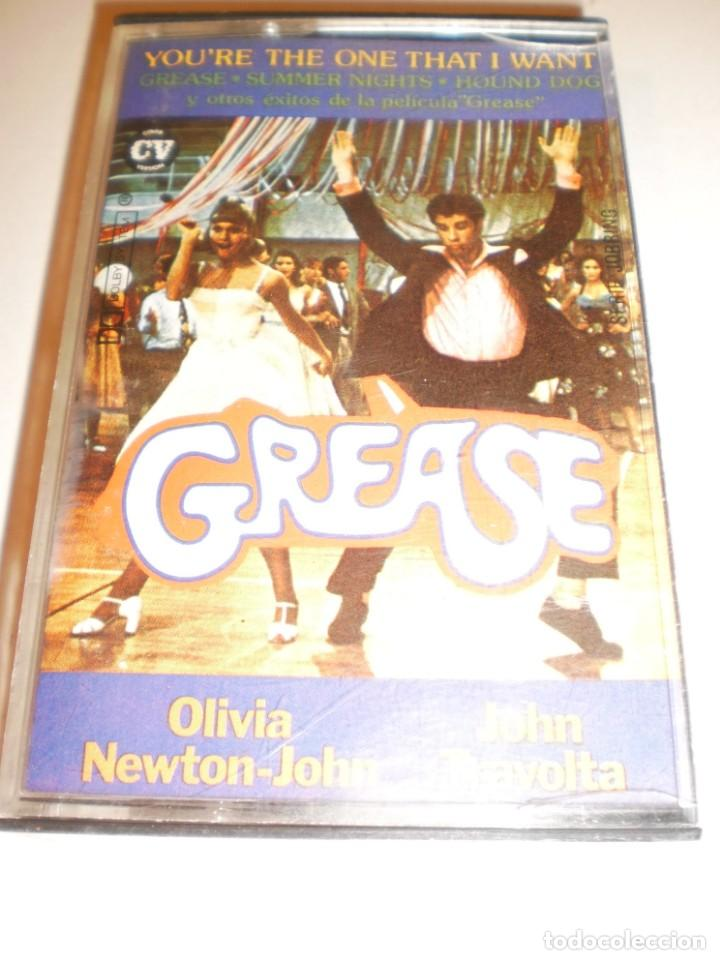 cinta, cassette, casete  grease  olivia newton john  john travolta (en  estado normal)