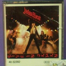 Casetes antiguos: JUDAS PRIEST - UNLEASHED IN THE EAST (LIVE IN JAPAN) - CASSETTE DE 1983. Lote 132067890