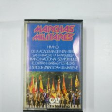 Casetes antiguos: MARCHAS MILITARES. HIMNO DE LA ACADEMIA DE INFANTERIA. LA MARSELLESA. HIMNO NACIONAL CASETE. TDKV11. Lote 132095218