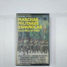 Casetes antiguos: MARCHAS MILITARES ESPAÑOLAS. BANDA MILITAR DE MADRID. HIMNO NACIONAL. MARCHA LEGIONARIOS. TDKV11. Lote 132095358