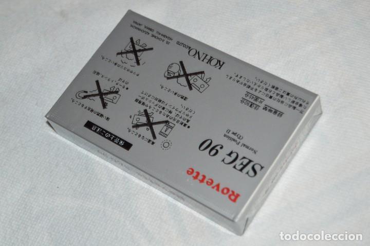 Casetes antiguos: LOTE DE 4 CINTAS DE CASSETTE - NUEVAS PRECINTADAS - ROVETTE SEG 90 - JAPAN - ENVÍO 24H - LOTE 01 - Foto 3 - 132364210