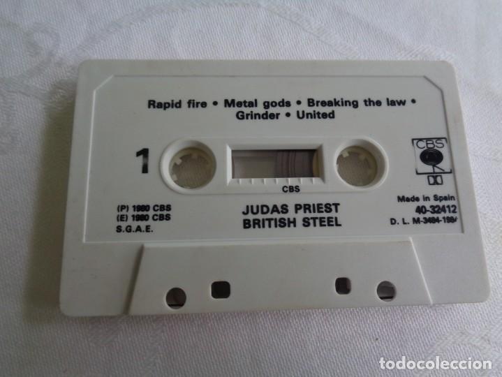 Casetes antiguos: cinta cassette casete cassete casette judas priest british stell edicion española de 1980 - heavy - Foto 3 - 135859134