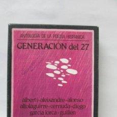 Casetes antiguos: ANTOLOGIA DE LA POESIA HISPANICA. GENERACION DEL 27. LIBRO CON DOS CINTAS CASETES. 1984. Lote 136071982