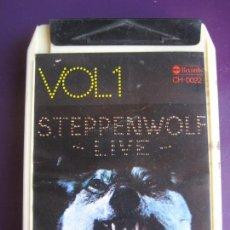 Casetes antiguos: STEPPENWOLF LIVE VOL 1 CARTUCHO 8 PISTAS - ABC MOVIEPLAY 1976 - HARD ROCK PSICODELIA 60'S. Lote 136662870