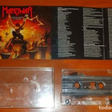 Cassetes antigas: MANOWAR - THE TRIUMPH OF STEEL - CASSETTE [ATLANTIC, GERMANY, 1992]. Lote 137607642