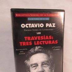 Casetes antiguos: OCTAVIO PAZ. LEE TRAVESIAS: TRES LECTURAS. 3 CASETES MAS LIBRO. GUTEMBERG 1996. VER FOTOS. Lote 137656014