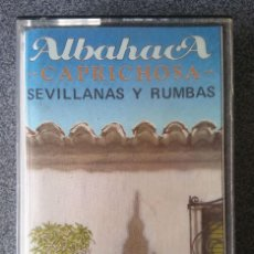 Casetes antiguos: CASETE ALBAHACA SEVILLANAS Y RUMBAS. Lote 137818758
