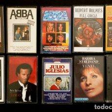 Casetes antiguos: LOTE 10 CASETES VARIADOS (AÑOS 70) JULIO IGLESIAS, ABBA, CAT STEVENS, SAM BROWN, BARBARA STREISAND. Lote 143948656