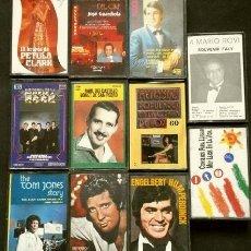 Casetes antiguos: LOTE 10 CASETES MUSICA AÑOS 60 - TOM JONES, ENGERBERT HUMPERDINC, PETULA CLARK, TREMELOES, TORNADOS. Lote 138188890
