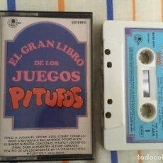 Casetes antiguos: EL GRAN LIBRO DE LOS JUEGOS PITUFOS THE SMURFS CINTA CASETE CASSETTE KREATEN. Lote 142467162
