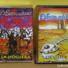 Casetes antiguos: EXTREMODURO 2 CASETES - DESIDIA AÑO 1996 - - LA HOGUERA AÑO 1997 BUEN ESTADO IMAGENES DETALLADAS. Lote 143772326
