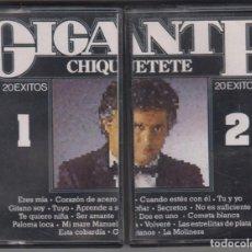 Casetes antiguos: CHIQUETETE DOBLE CASSETTE GIGANTE 20 ÉXITOS 1986. Lote 144743690