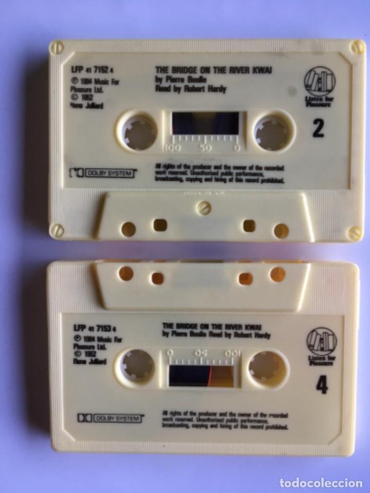 Casetes antiguos: Casete The Bridge on the river Kwai. Pierre Boule. Listen for pleasure. EMI 1984. Doble Cassette - Foto 8 - 145201838