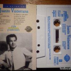 Casetes antiguos: CINTA DE CASSETTE - CASETE - JUANITO VALDERRAMA - LO MEJOR DE - PERFIL - 1990 EDICIONES DEL PRADO. Lote 145454750