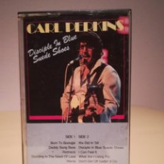 Casetes antiguos: CASETE CARL PERKINS - DISCIPLE IN BLUE SUEDE SHOES. Lote 145748782